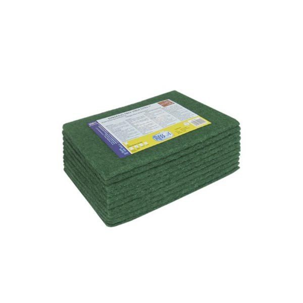 Estropajos Verdes Fibra Cortados 19x16cm. 160 unidades.