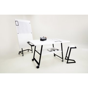 Mesa Manual Thinking con Ruedas 160x100x98cm